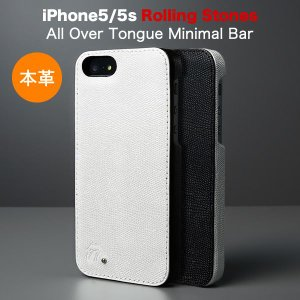 iPhoneSE / iPhone5s/5( アイフォン5s )用 ローリング・ストーンズ 本革 レザー ケース ZENUS Rolling Stones All Over Tongue Minimal Bar Z3043i5S Z3044i5S|winglide