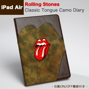 iPad Air (アイパッドエアー)用 ファブリック レザー ケース  『ZENUS iPad Air Rolling Stones Classic Tongue Camo Diary Z3158iPA』 ローリングストーンズ|winglide