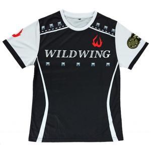 スタッフTシャツ 冷感効果 蒸れにくくサラサラした着心地 痩せて見えるシルエットデザイン 洗濯で色落ちしない特殊プリント ワイルドウィング|winglove-wildwing