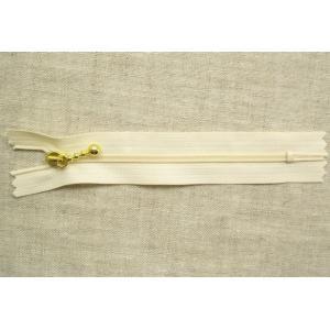 マカロンケース用 玉スライダー(ゴールド) コイルファスナー 10cm ベージュ