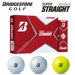 即納★[2021/NEW]ブリヂストンゴルフ BRIDGESTONE GOLF ゴルフボール SUPER STRAIGHT 1ダース(12球) スーパーストレート  |winning-golf