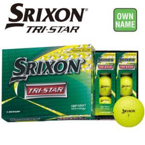 【オンネーム対応】ダンロップ SRIXON スリクソン TRI-STAR ゴルフボール 3ダース(36球入り) プレミアムパッションイエロー トライスター DUNLOP|winning-golf
