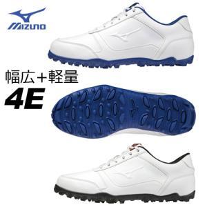 [幅広4E] ミズノ ワイドスタイルライトスパイクレス ゴルフシューズ 51GQ2085 WIDE STYLE  MIZUNO winning-golf