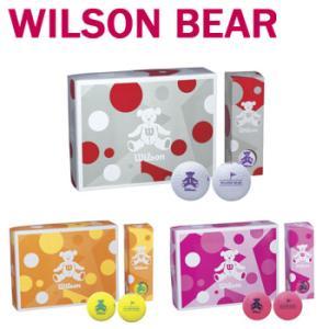 即納★ウイルソンベア ゴルフボール 1ダース(12球入り)WILSON BEAR GOLF BALL ウィルソンベア ゴルフボール レディース 【セール価格】|winning-golf