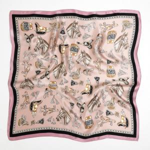 シルク100% スカーフ 53cmx53cm レディース 中判 正方形 上品 軽い 新入荷 ソフト 手触りよく 色鮮やか おしゃれ|winnowstore
