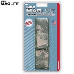 (MAGLITE)マグライト ミニ2AA (単三2本) ライトケース ユニバーサルカモフラージュ|wins