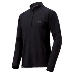モンベル メリノウールプラス アクション ジップネック(長袖Tシャツ) メンズ ダークチャコール L 1104972 (mont-bell)|wins