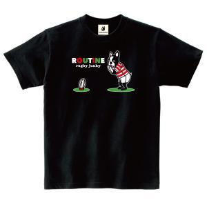 (ラグビージャンキー)「ルーティン」Tシャツ 02-L|wins