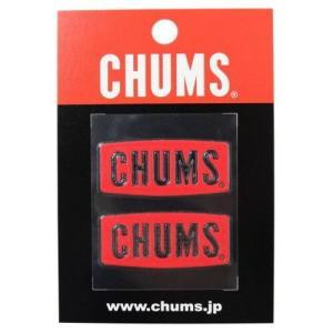 (CHUMS)チャムス CHUMS Logo Emboss Sticker Red wins