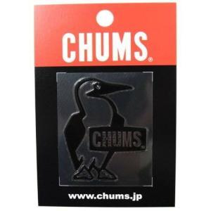 (CHUMS)チャムス Booby Bird Emboss Sticker Black wins