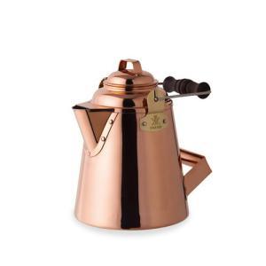 たっぷりのお湯を素早く沸かす<br/>風合い豊かな銅製のケトル<br/>使い...