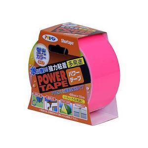 アサヒペン 補修用テープ パワーテープ 48mm×10m 蛍光ピンク T105 B