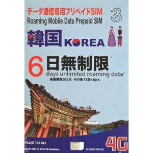 Three 韓国プリペイドSIM6日間 4G・3Gデータ通信6GB