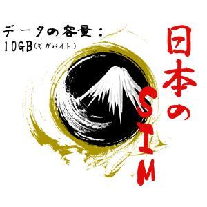 日本のSIM docomoの回線 データの容量10GB プリペイドSIM