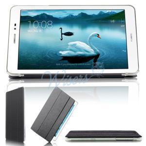 wisers Huawei MediaPad T1 8.0 タブレット 専用 超薄型 スリム ケース カバー 全3色 ブラック・ブルー・ゴール...|wisers1