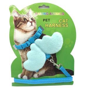Petiwa猫ハーネス 犬ハーネス 猫 ベスト 胸あて式 牽引ロープ ハーネス リード セット 春夏...