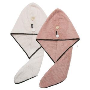 ヘアドライタオル 2枚セット 吸水 速乾 髪 タオル 軽量 防滑 シャワーキャップ タオルキャップ ...
