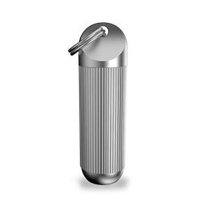 Timito ピルケース薬ケースチタン(Ti)携帯用 軽量 ニトロ薬入れ 生活防水薬入れ キーホルダー ペンダント 小物入れ 携帯灰皿 ED