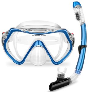 Flycreatスイミングゴーグル 子ども用 水泳 スイムゴーグル シュノーケルマスク くもり止め ...