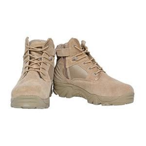 st-mil DE米軍6インチのサイドジッパー軍事ブーツタクティカルブーツデザートブラウン26.0セ...