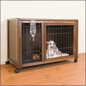 国内メーカー製の安心品質、ワンちゃんと貴方の暮らしに。  ■ケージメッシュモデル 室内犬用の優しい木...