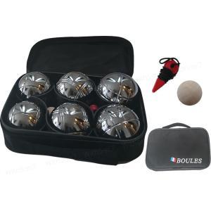 ペタンク ボール (ブール)6個セット [ストライプ3種類*2個ずつ]