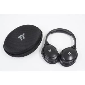 TaoTronics タオトロニクス TT-BH22 ノイズキャンセリングワイヤレスヘッドホン USED品 ブラック 本体+ケース 完動品  S  V3639