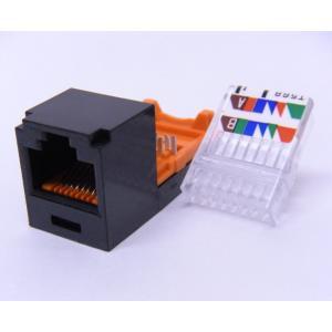 Mini-Com Mini-Jack TX5e カテゴリ5e モジュラージャック (黒)50個入|with-net