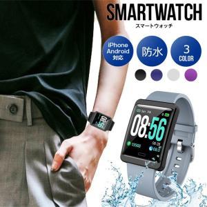 スマートウォッチ iphone android対応  line 対応 心拍計 血圧計 歩数計 IP6...