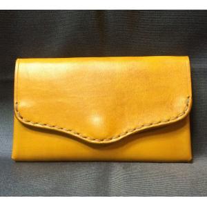 本革製 名刺ケース(黄色)|wizard-leather