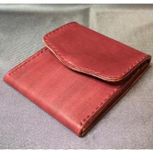 本革製 小銭入れ(ボルドー)|wizard-leather