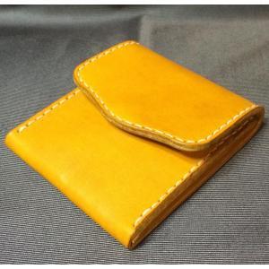 本革製 小銭入れ(イエロー)|wizard-leather