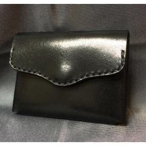 シンプル小銭入れ(黒)|wizard-leather