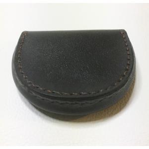 馬蹄型コイン・ケース(黒革)|wizard-leather