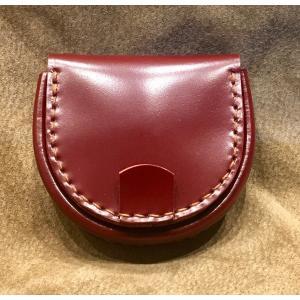 コードバン馬蹄型小銭入れ(ワインレッド)|wizard-leather