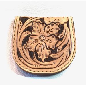 本革製コインケース(カービング)|wizard-leather
