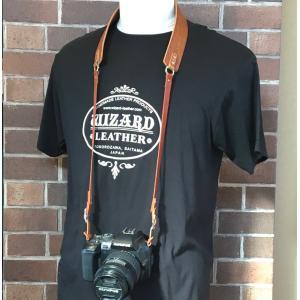 カメラ用ストラップ(薄茶色) wizard-leather