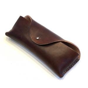 本革製メガネ・ケース(茶革)|wizard-leather