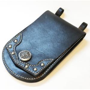 本革製メディスン・バッグ(コンチョ、鋲打ち) wizard-leather