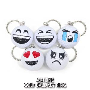 アートライン ゴルフボール キーリング ARTLINE キーホルダー|wizard