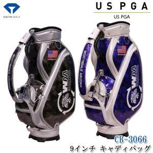 【US PGA TOUR キャディバッグ3066】 「3点式ショルダーと11箇所の収納があります。紺...