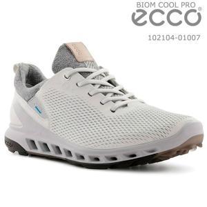 エコー ecco 102104-01007 BIOM COOL PRO WHITE メンズ ゴルフシューズ スパイクレス|wizard