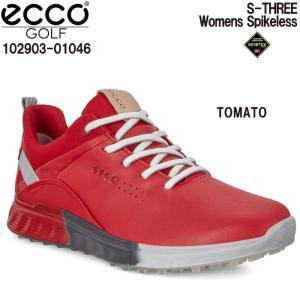 エコー ECCO 102903-01046 S-THREE TOMATO レディース ゴルフシューズ|wizard
