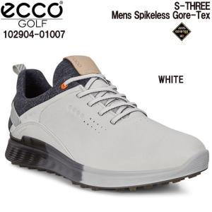 エコー ecco 102904-01007 S-THREE WHITE メンズ ゴルフシューズ スパイクレス|wizard