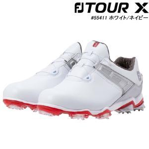 フットジョイ FOOT JOY 55411W TOUR X Boa メンズ ゴルフシューズ ホワイト/レッド ツアー X ボア|wizard
