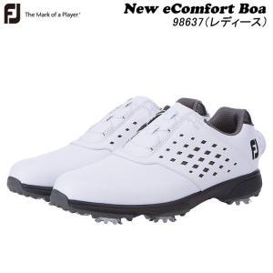 フットジョイ FOOT JOY eComfort Boa ゴルフシューズ ホワイト/ブラック(98637) レディース FJ|wizard