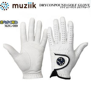 ムジーク MZG-019 指先ショート ドライコンパウンド ゴルフ グローブ MUZIIK DRY COMPOUND|wizard