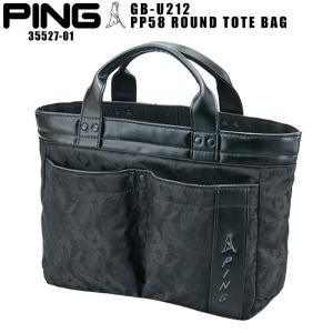 ピン ゴルフ PING GB-U212 PP58 ラウンド トートバッグ 35527-01 ROUND TOTE ミニトート Mr.PING|wizard