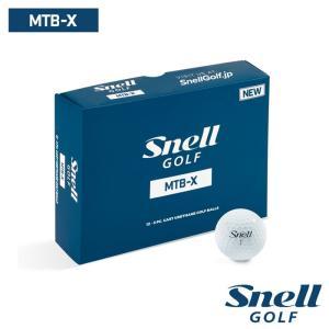 ゴルフボール スネルゴルフ SNELL GOLF MTB-X ホワイト 1ダース 12球|wizard