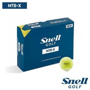 ゴルフボール スネルゴルフ 2019 SNELL GOLF MTB-X イエロー 1ダース 12球|wizard